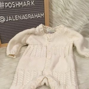 Janie and jack white cable knit layette